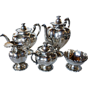 Vintage Five-Piece Mexican SLC Sterling Silver Tea Set