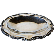 Vintage Mexican Sterling Silver Oval Serving Dish