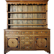 English Georgian Oak and Pine Welsh Dresser