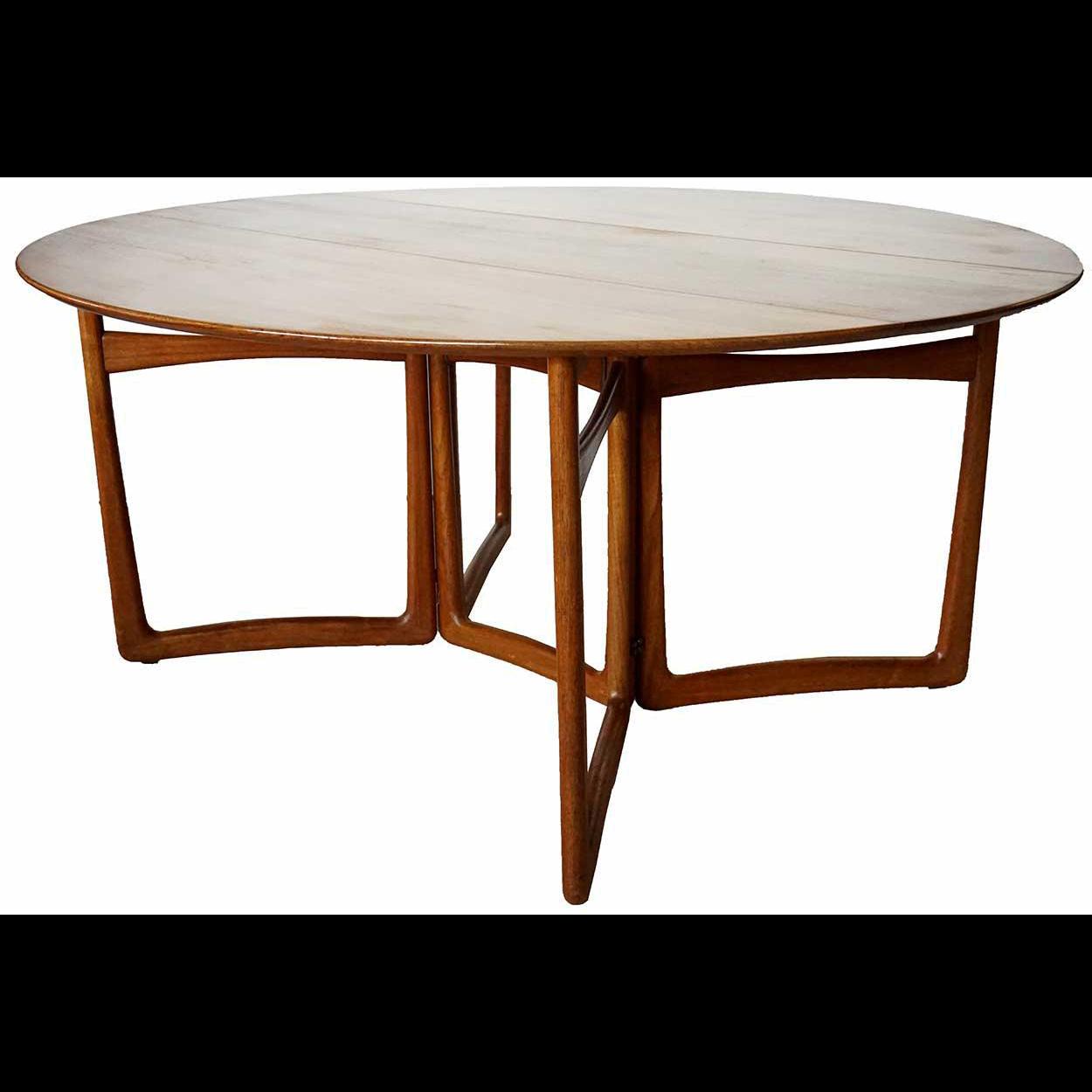 Danish Hvidt & Molgaard for John Stuart Modern Teak Folding 20/59 Dining Table