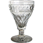 English Georgian Style Crystal Goblet (3 available)