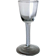 English George III Double-Series Cotton Twist Stem Wine Glass