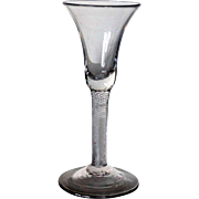 English Georgian Single-Series Air Twist Stem Wine Glass