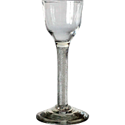 Early Single-Series Multiple-Spiral Air Twist Stem Glass