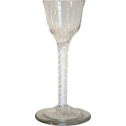 Early Double-Series Opaque Twist Stem Glass