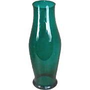Large English George III Bristol Green Glass Hurricane Shade