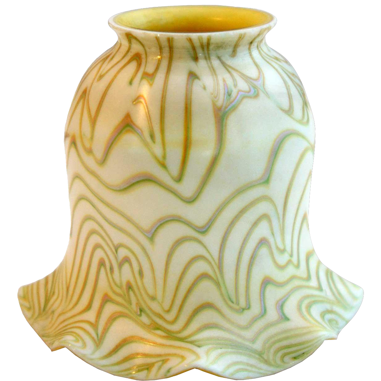 American Steuben Carder Period Art Glass Gold Lamp Shade