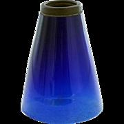 American Tiffany Studios Cobalt Blue Glass Lamp Shade