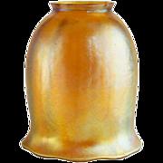 American Tiffany Gold Favrile Tulip Art Glass Lamp Shade