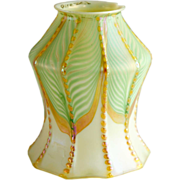 American Quezal Art Nouveau Glass Two Pattern Lamp Shade