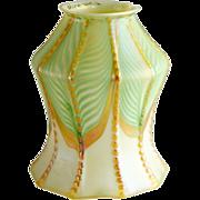 American Quezal Art Nouveau Glass Two Pattern Lamp Shade