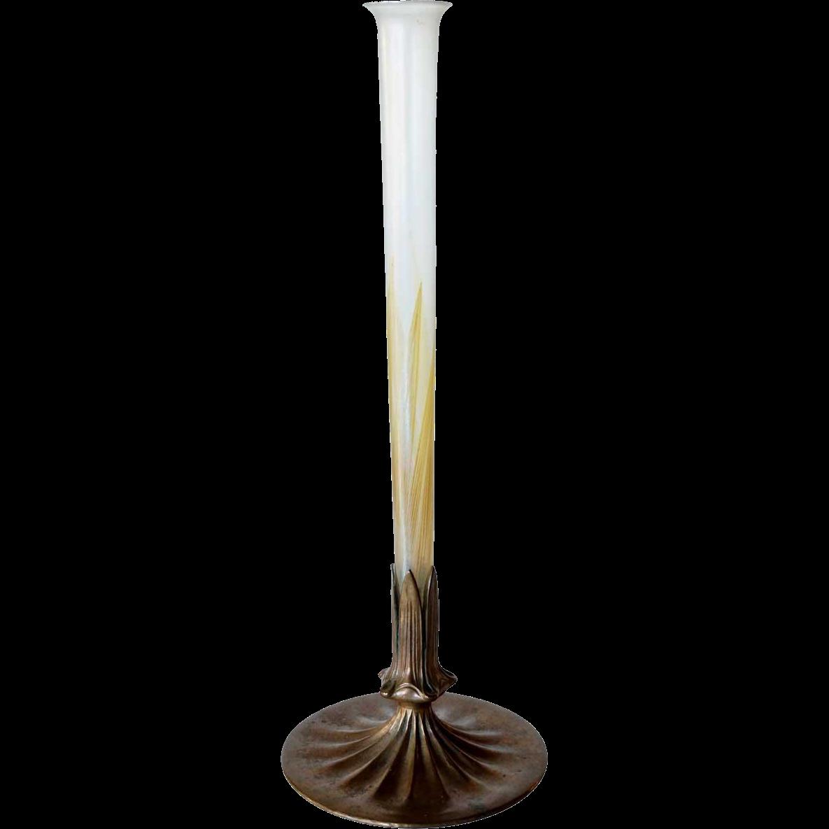 Scarce American Tiffany Studios Art Nouveau Glass Vase Insert