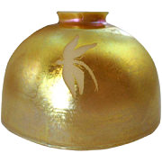 American Gold Art Glass Dragonfly Lamp Shade
