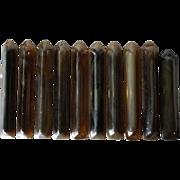 Set of 10 American Tiffany Studios Art Glass Chandelier Prisms