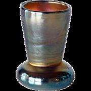 American Tiffany Studios Art Nouveau Favrile Glass Miniature Vase