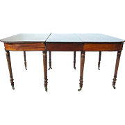 English Sheraton Mahogany Extending Dining Table