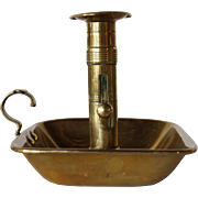 English Victorian Brass Push Up Ejector Chamberstick