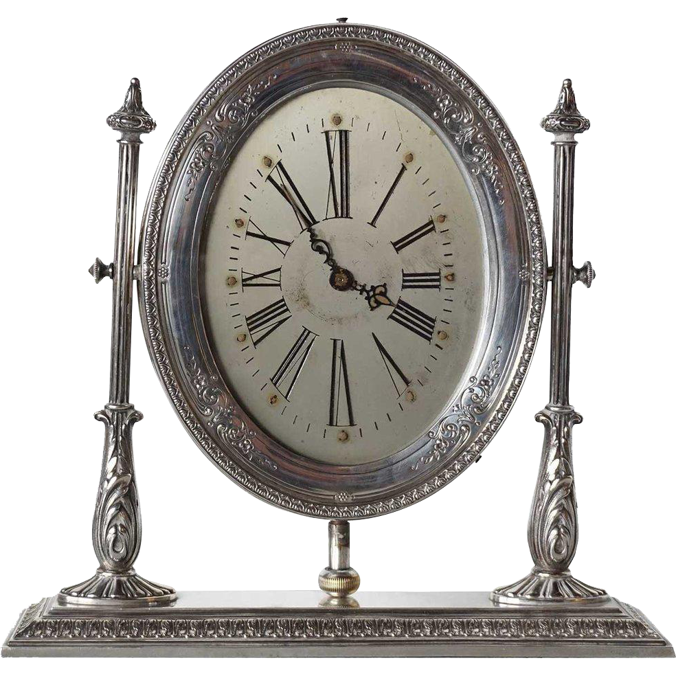 American Reed and Barton Sterling Silver Waltham Desk Clock