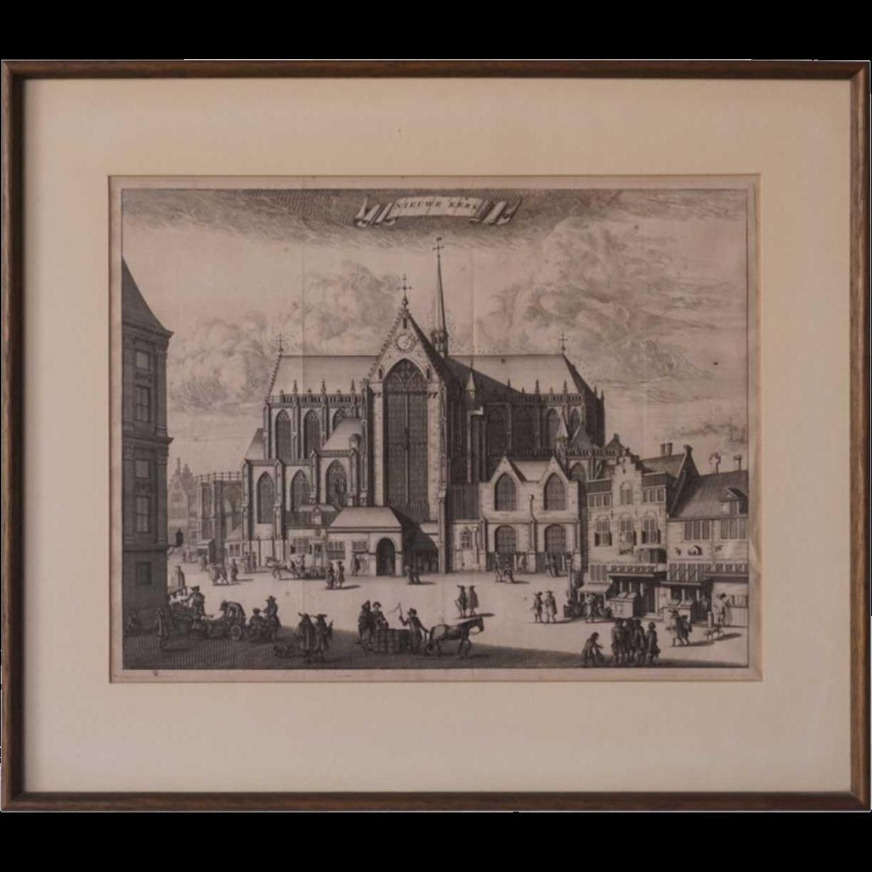 Engraving, De Nieuwe Kerk, Amsterdam