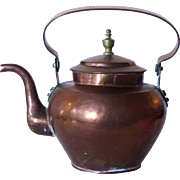 English Georgian Copper and Brass Tea Pot