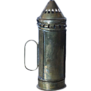 Small English Georgian Brass Portable Lantern