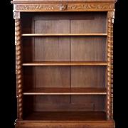 English Oak Open Bookcase