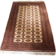 Large Vintage Pakistan Bokhara Wool Carpet