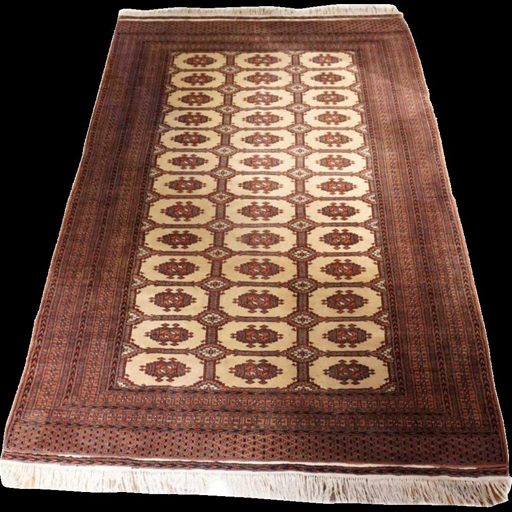 Large Vintage Pakistan Bokhara Wool Carpet