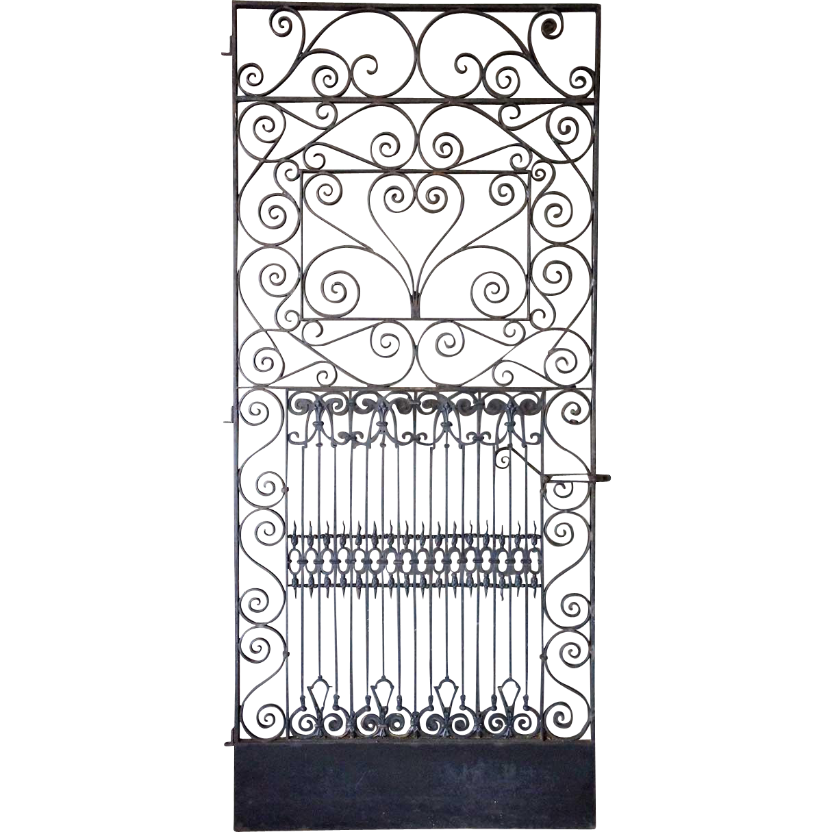 American Wrought Iron and Brass Screen Single Door
