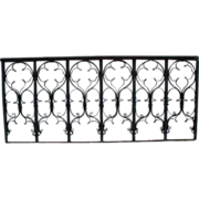 Victorian Gothic Revival Wrought Iron Grille or Balcony