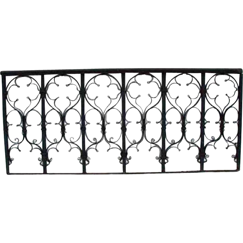 Victorian Gothic Revival Wrought Iron Grille
