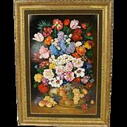 VALENTINA WARGO Painting on Board, Floral Still Life