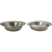 Small Pair of Continental Pewter Bowls