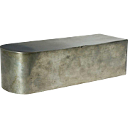 English Pewter Coffin-Shape Box