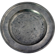 American Thomas Danforth III Pewter Plate