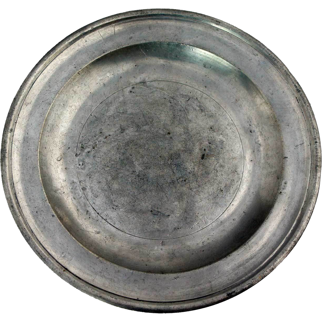 English Export Georgian John Townsend Pewter Plate