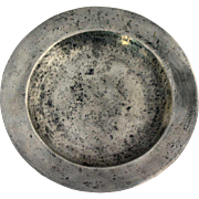 English Georgian Susannah Cocks Pewter Plate