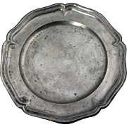 Continental Pewter Wavy-Edged Plate