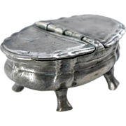 Continental Pewter Double Spice or Salt Box