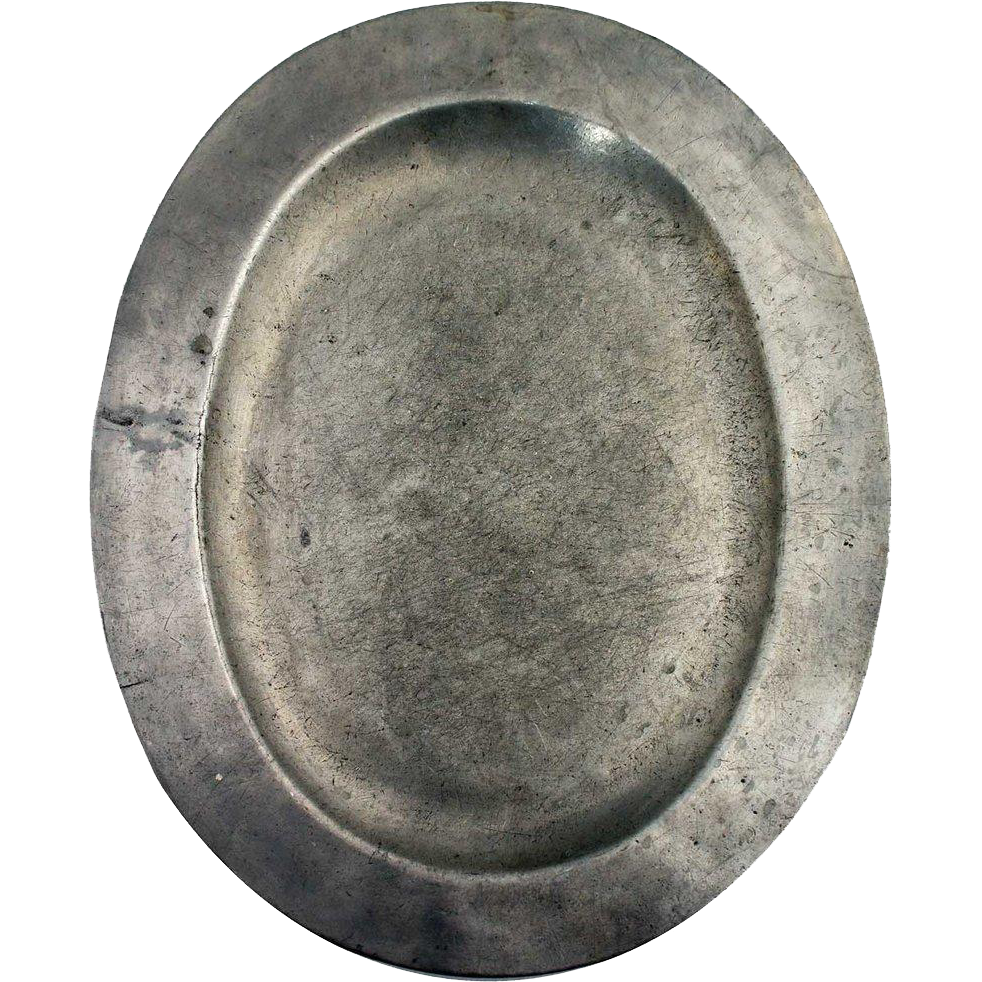 English George III Pewter Oval Platter
