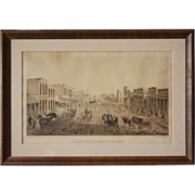 After ALFRED EDWARD MATHEWS Rare Colored Lithograph of Laramie Street, Denver, Colorado