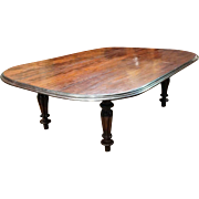 Large Anglo Indian William IV J. M. Edmond Rosewood Dining Table