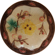 Aesthetic Movement Majolica St. Louis Pattern Plate