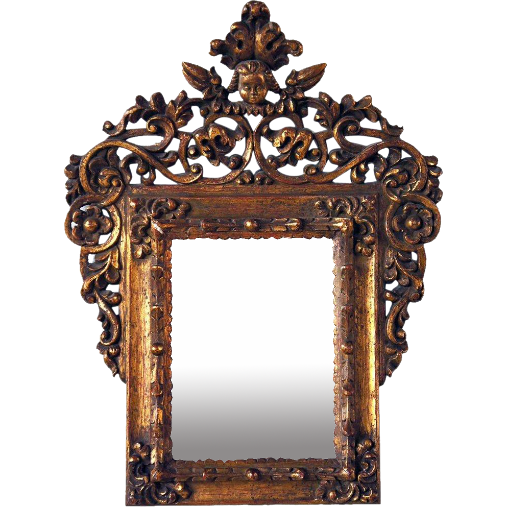 Baroque Style Gilt Mirror