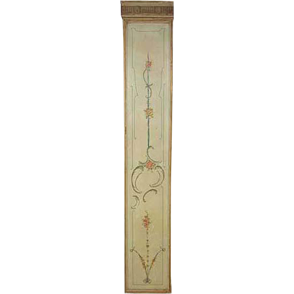 French Painted Architectural Room (Boiserie) Panel