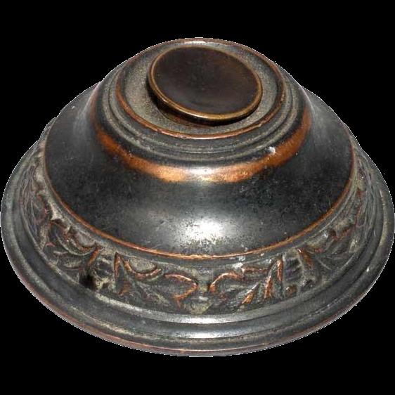 American Late Victorian Brass Electric Door Bell Push