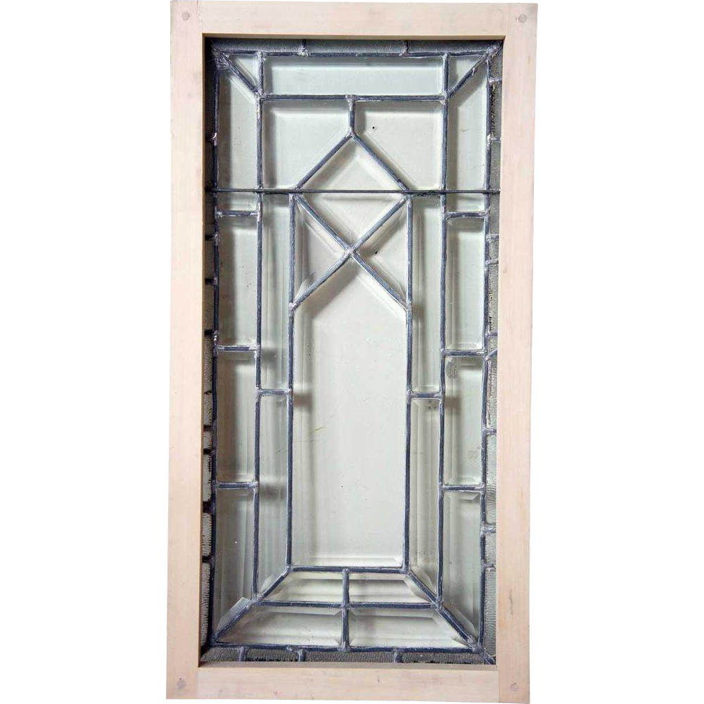American Craftsman Stained and Beveled Glass Window