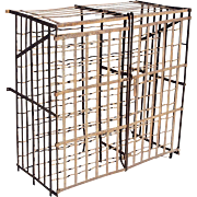 French Provincial Iron Wine Rack Cage