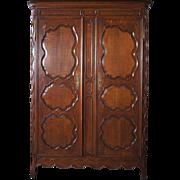 French Louis XV Style Oak Armoire
