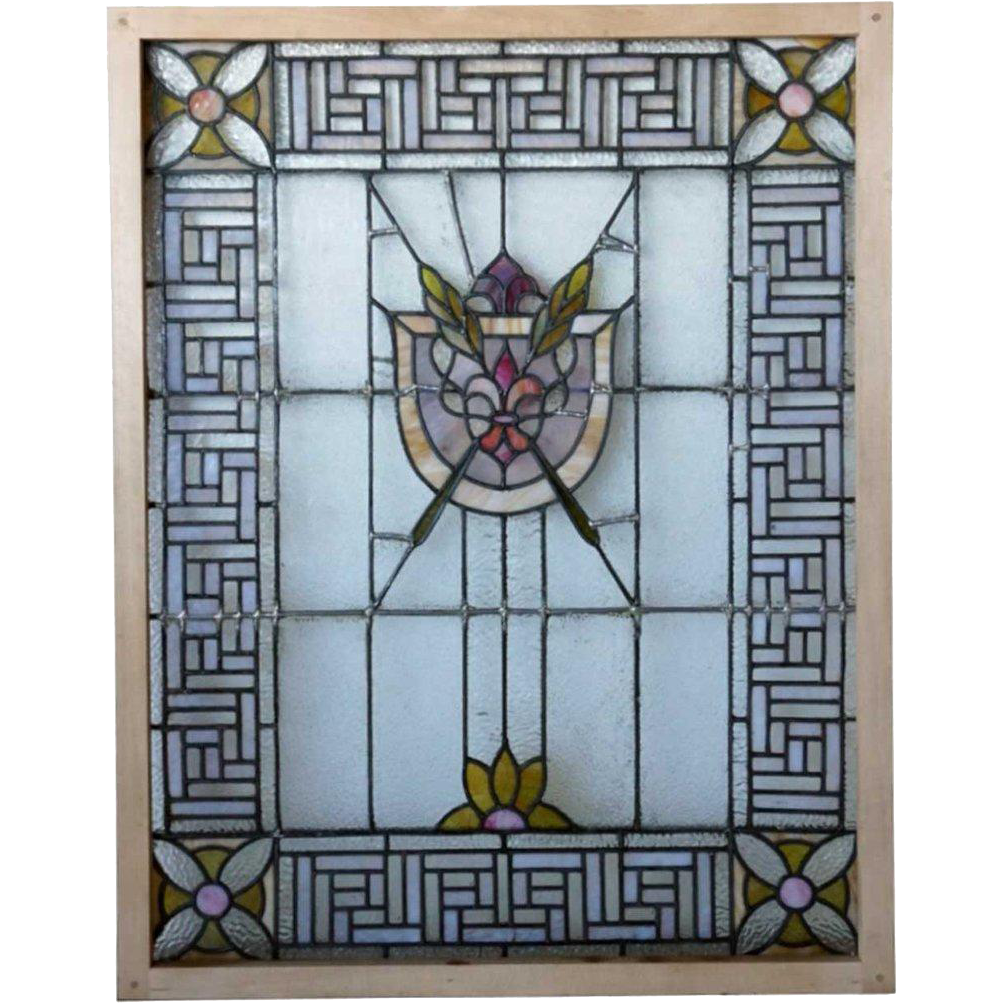 American Stained and Leaded Glass Window